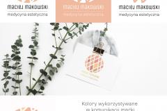 Identyfikacja wizualna - Maciej Makowski. Medycyna Estetyczna.